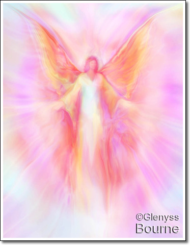 Archangel Metatron Reaching out in Compassion painting