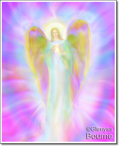 Angel of Divine Grace Elysse painting
