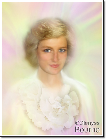 Lady Diana painting