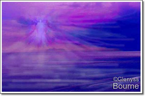 Angel of Reflection painting