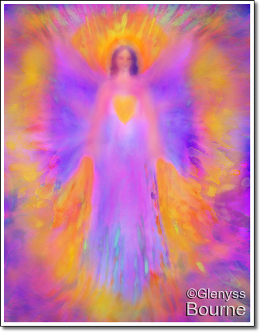 Angel of Love and Protection painting