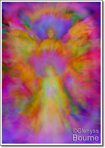 Angel of Loving Abundance painting