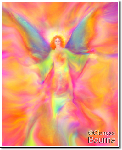 Angel of Joy and Celebration! painting