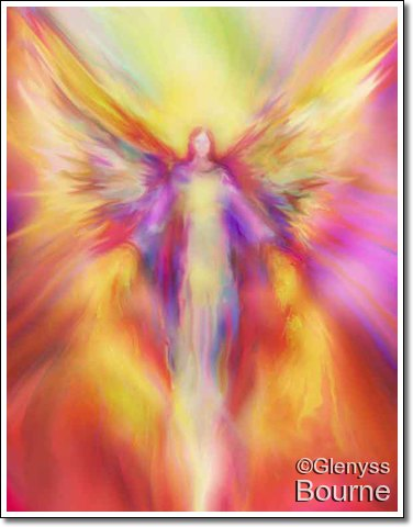 Angel of Light, Compassion and Healing, Archangel Uriel painting