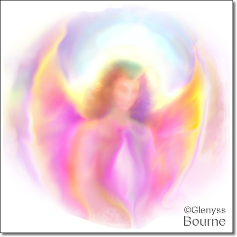Angel of Light - Lei Astra painting