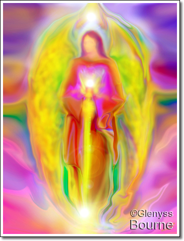 Angel of Light Archangel Michael painting