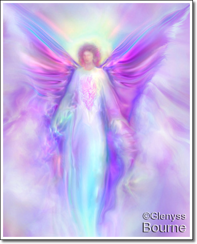 Angel of Light, Archangel Raphael painting