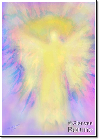 Angel of  Unconditional Love painting
