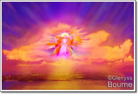 Angel of Rebirth and New Beginnings..   painting