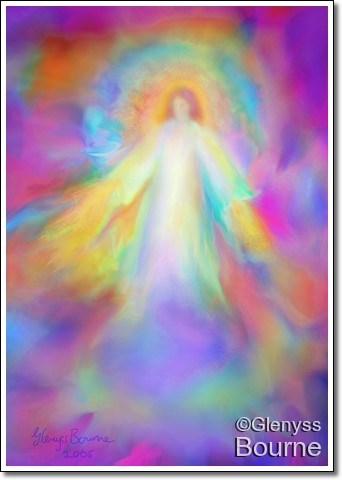 Angel of Forgiveness and Compassion painting