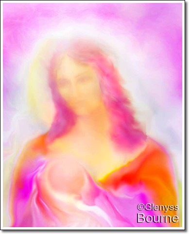 Angel of Love, The Madonna of Compassion painting