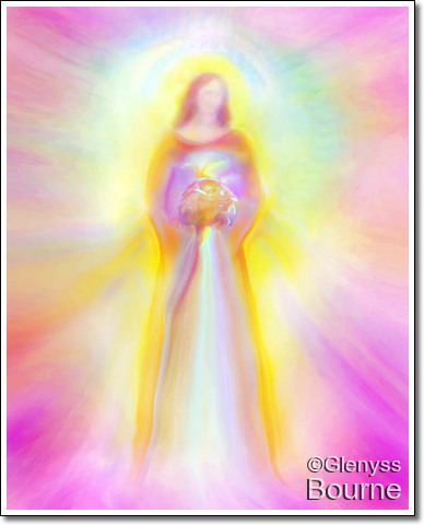 Angel of Higher Spiritual Understanding and Love, Mary Magdalen painting