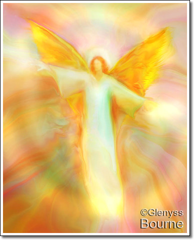 Angel of New Hope, Archangel Chamuel painting