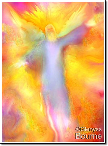 Angel of  Eternal Light painting