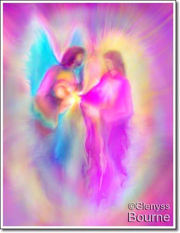 Angel of Loving Kindness painting
