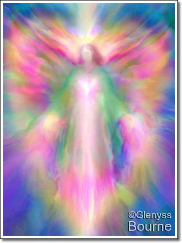 Angel of Divine Light,- Stella Maris painting