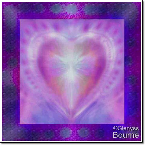 Angel of  The Sacred Heart of Love painting