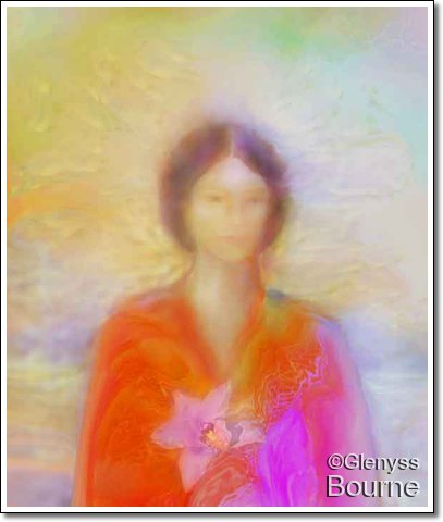 Kwan Yin Painting by Glenyss BOurne