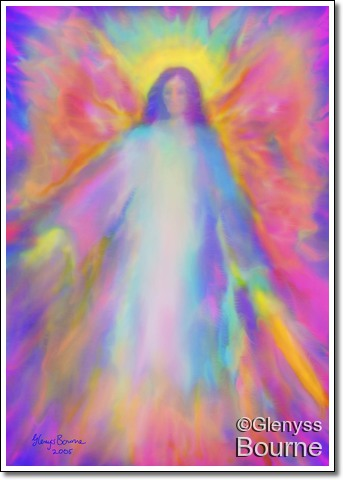 Angel of Success and Happiness painting