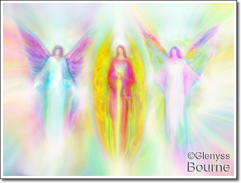 Painting of Archangels by Glenyss Bourne