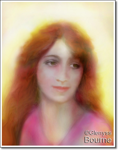 Mary Magdalene painting by Glenyss Bourne