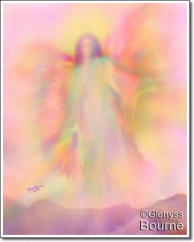 The Angel of Allowing from Sacred Wisdom by Glenyss Bourne.Let go. Allow others to follow their own destiny.