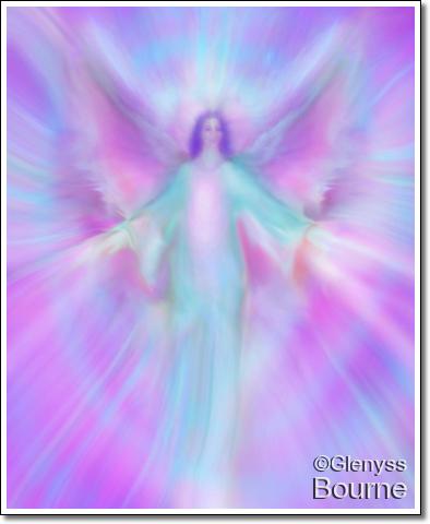 Archangel Cassiel painting